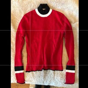 Red turtle neck Zara sweater